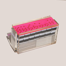 Load image into Gallery viewer, Luxe Dominoes - El Catire Domino Set, Neon Pink, available at LCD.