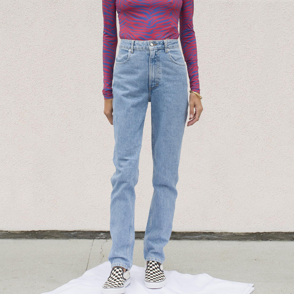 Eckhaus Latta - El Jean - True Blue, front view, available at LCD.