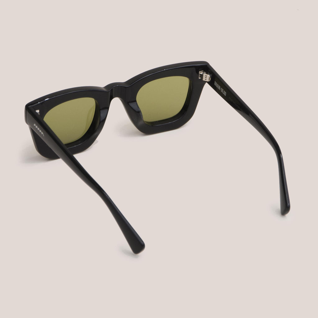 Braindead - Elia Sunglasses - Black, back view, available at LCD.