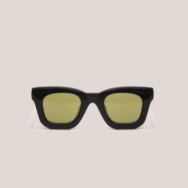 Braindead - Elia Sunglasses - Black, front view, available at LCD.