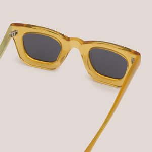 Braindead - Elia Sunglasses - Multi Amber, back view, available at LCD.