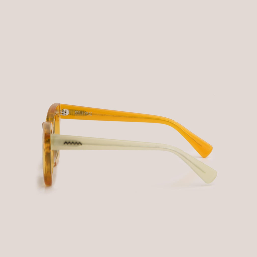 Braindead - Elia Sunglasses - Multi Amber, side view, available at LCD.