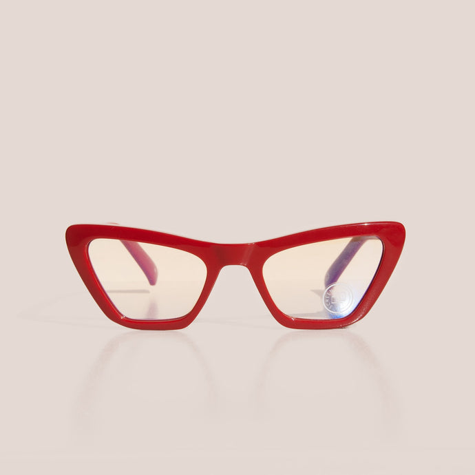 The Book Club - The Last Epiphany Glasses - Cherry, front view, available at LCD.