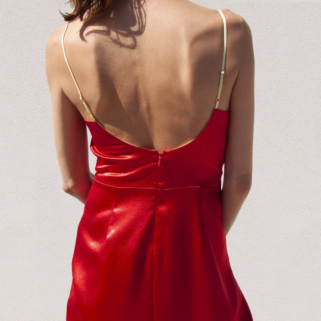 Sies Marjan - Farrah Cocktail Dress, back detail, available at LCD.