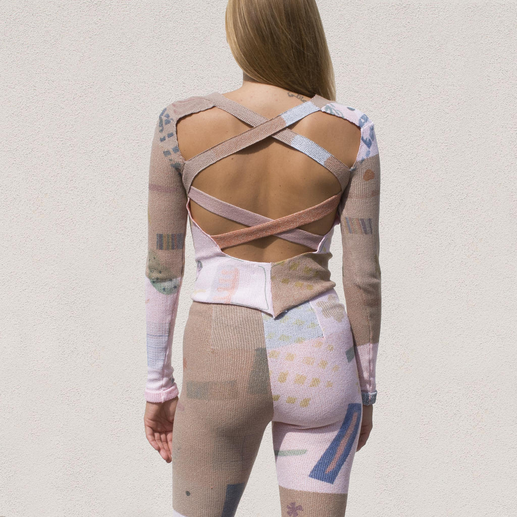 Eckhaus Latta - Filatti Top, bacl view, available at LCD.