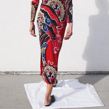Load image into Gallery viewer, Pleats Please - Flame Print Long Skirt , available at LCD