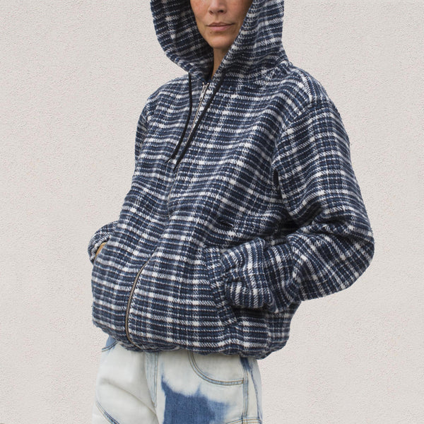 Stussy - Flannel Work Jacket - Plaid, angled view.