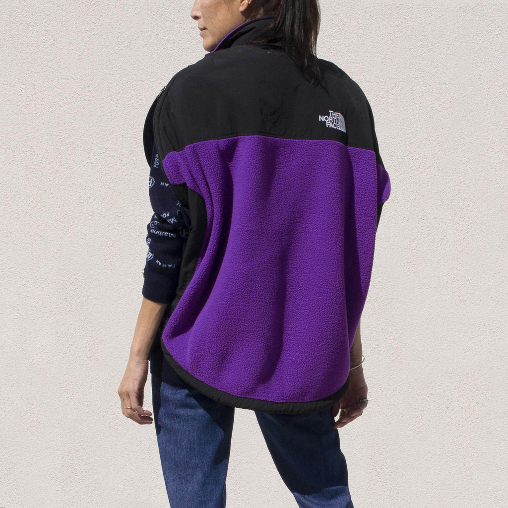 MM6 - Fleece Circle Vest, back view.