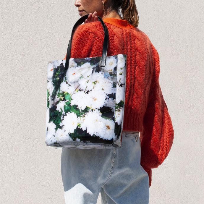 Kara - Floral Pinch Tote, available at LCD.