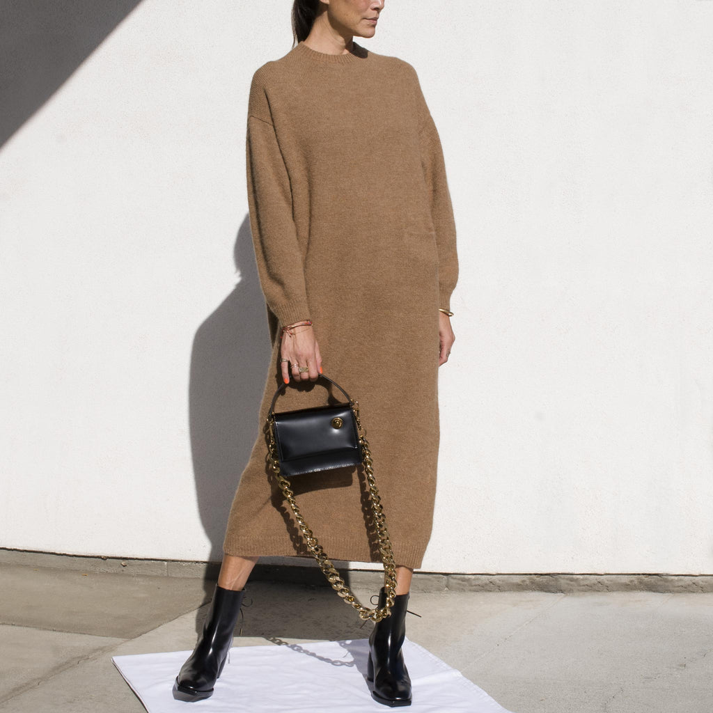 Lauren Manoogian - Fluffy Crewneck Dress, angled view.