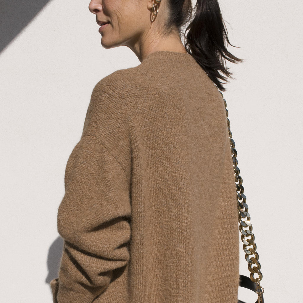 Lauren Manoogian - Fluffy Crewneck Dress, side view.