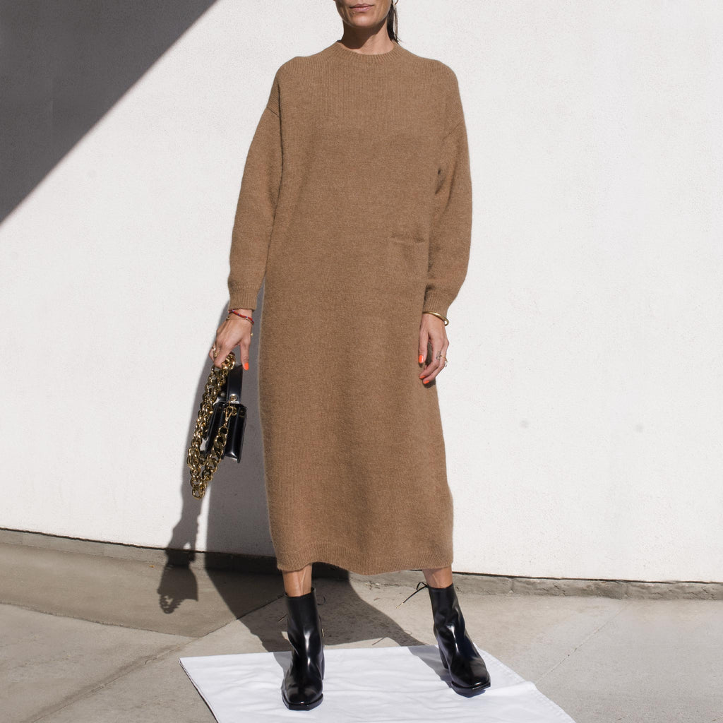 Lauren Manoogian - Fluffy Crewneck Dress, front view.
