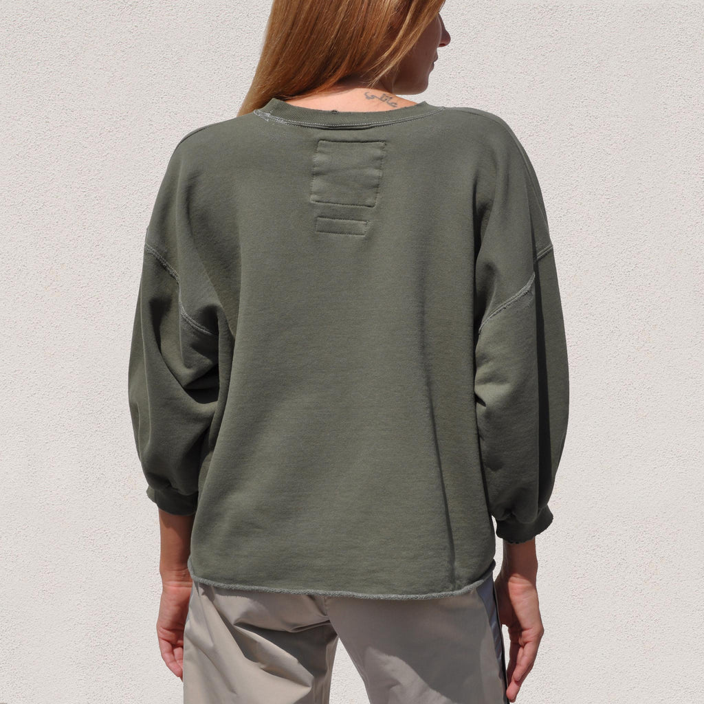 Rachel Comey - Fond Sweatshirt - Olive, back view, available at LCD.