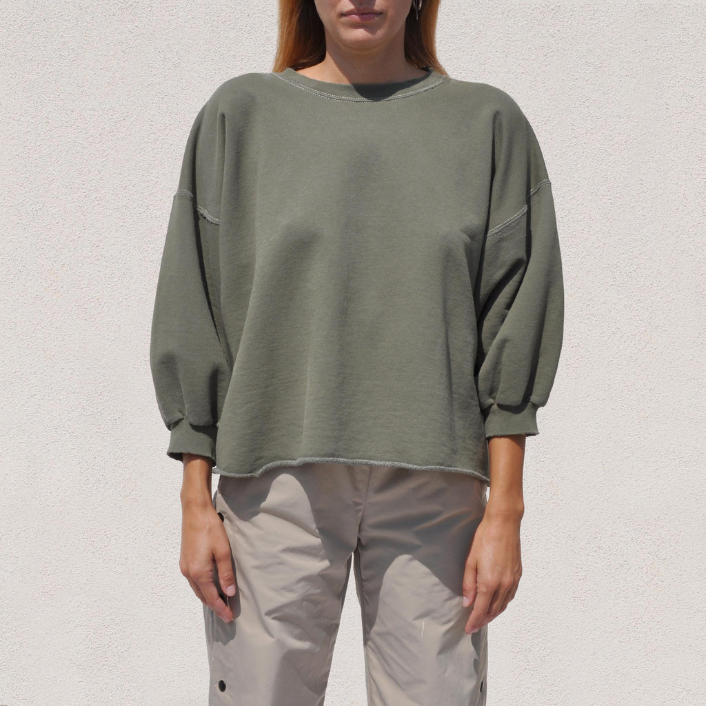 Rachel Comey - Fond Sweatshirt - Olive, front view, available at LCD.