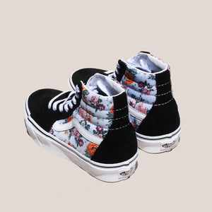 Vans - UA Sk8-Hi - Garden Floral, back view, available at LCD.