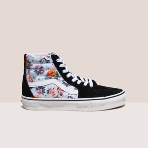 Vans - UA Sk8-Hi - Garden Floral, side view, available at LCD.