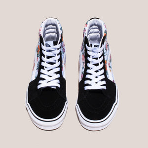 Vans - UA Sk8-Hi - Garden Floral, aerial view, available at LCD.