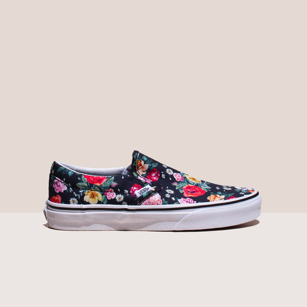 Vans - UA Classic Slip-On - Garden Floral, side view, available at LCD.