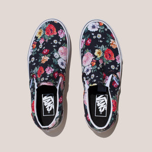 Vans - UA Classic Slip-On - Garden Floral, aerial view, available at LCD.