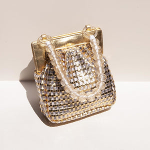 Maryam Nassir Zadeh - Glow Purse in Gold, available at LCD.