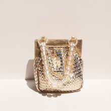 Load image into Gallery viewer, Maryam Nassir Zadeh - Glow Purse in Gold, front view, available at LCD.