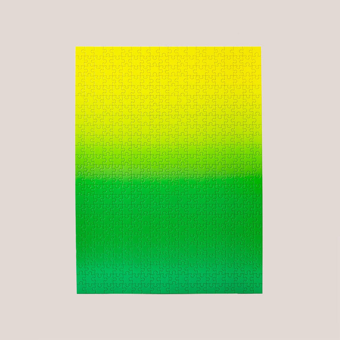 Areaware - Gradient Puzzle - Green/Yellow, available at LCD.