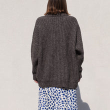 Load image into Gallery viewer, Lauren Manoogian - Grandma Cardigan in Barnwood, back view, available at LCD.
