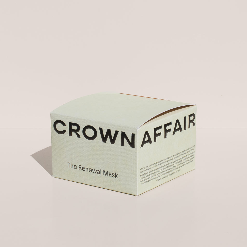 Crown Affair - Hair Renewal Mask, packaging.