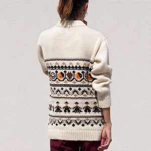 Ganni - Hand Knit Oversized Sweater, back view, available at LCD.