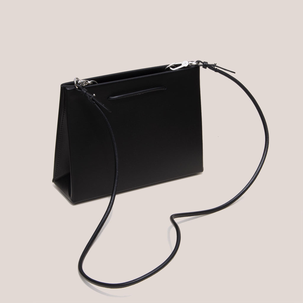 Medea - Medea Hanna Bag - Black, angled view, available at LCD.