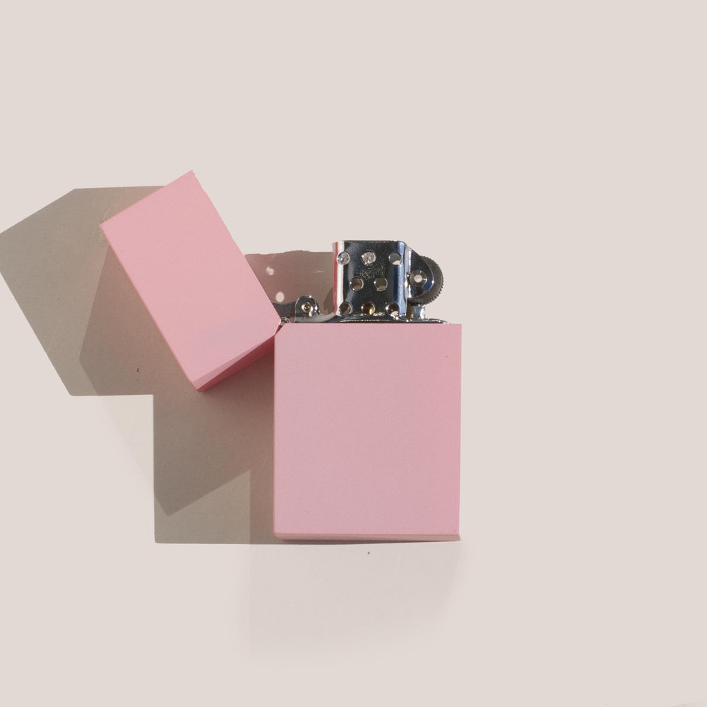 Tsubota Pearl - Hard Edge Lighter in Sakura Pink, flatlay view.
