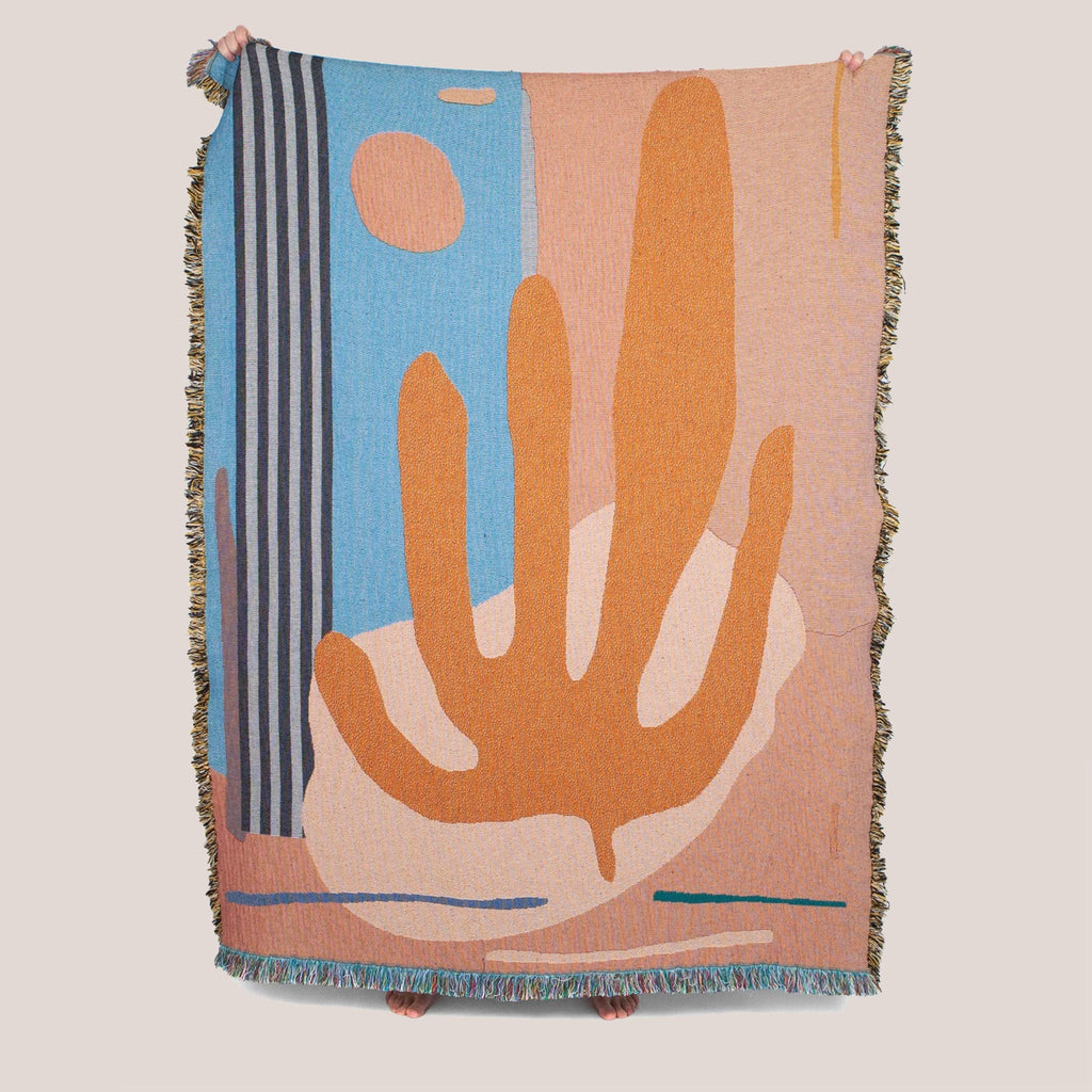 Slowdown Studio - Hazlewood Throw, front detail, available at LCD.