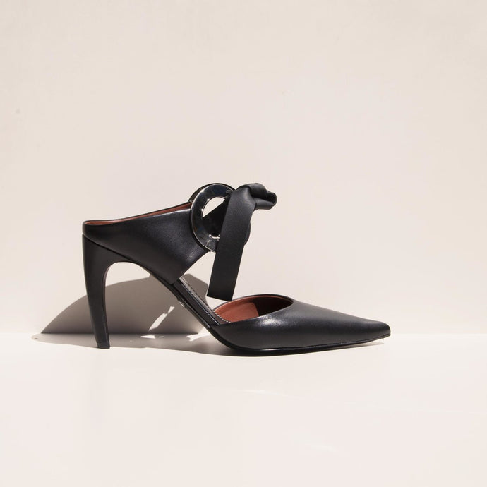 Proenza Schouler - Grommet High Heel Mule - side view, available at LCD.