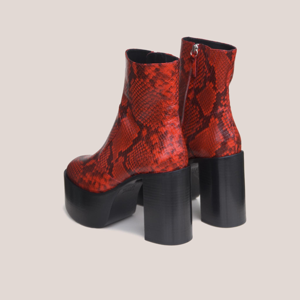 Simon Miller - High Raid Boot - Tango Red, back view, available at LCD.