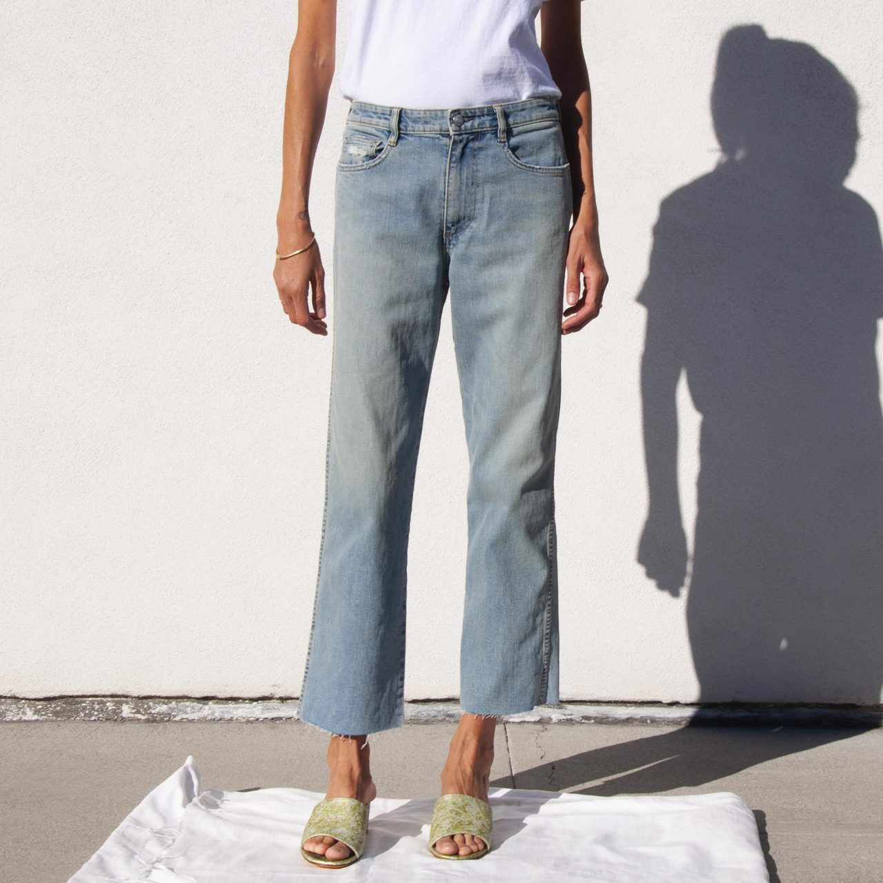 Simon Miller - High Rise Skinny Crop Denim, available at LCD
