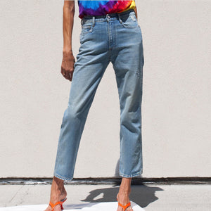 Simon Miller - High Rise Straight Leg Crop Jean, front view, available at LCD.