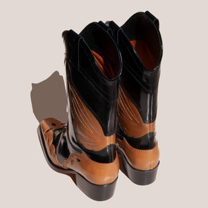 Ganni - High Texas Boot, back view, available at LCD.
