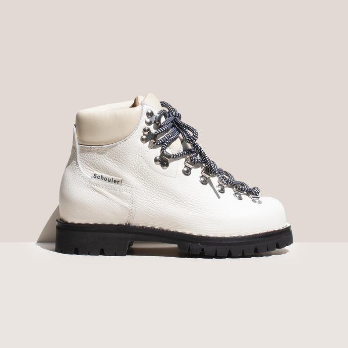 Proenza Schouler - Leather Hiking Boot, side view, available at LCD.