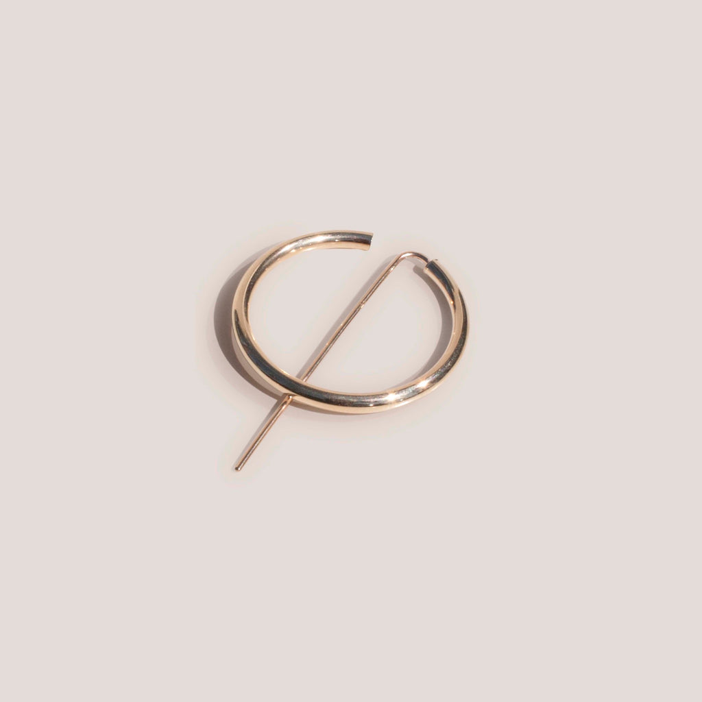 Jaclyn Moran Jewelry - Hoop & Post Earrings in Yellow Gold, available at LCD.