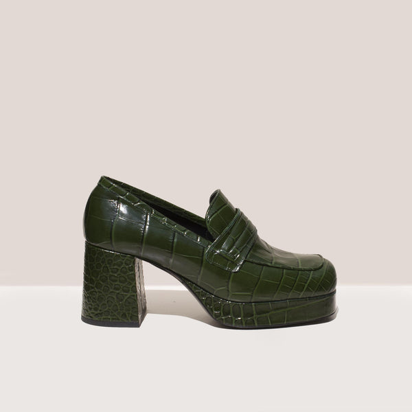 Simon Miller - Hustler Loafer - Forest, side view, available at LCD.