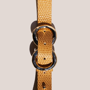 Rejina Pyo - Infinity Belt, detailed view of front of buckle, available at LCD.