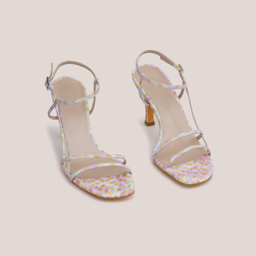 Maryam Nassir Zadeh - Irene Sandal - Kaleidoscope, angled view, available at LCD.