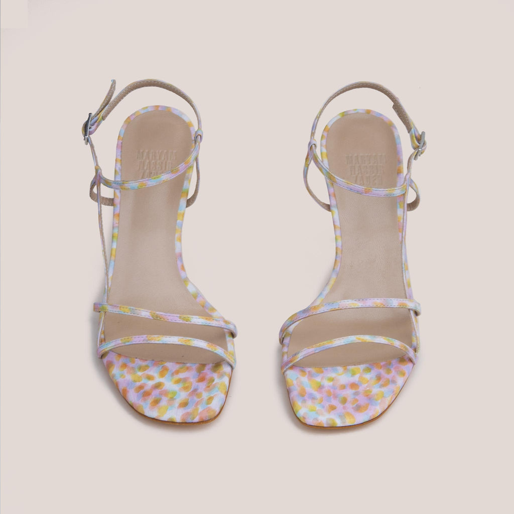 Maryam Nassir Zadeh - Irene Sandal - Kaleidoscope, front view, available at LCD.