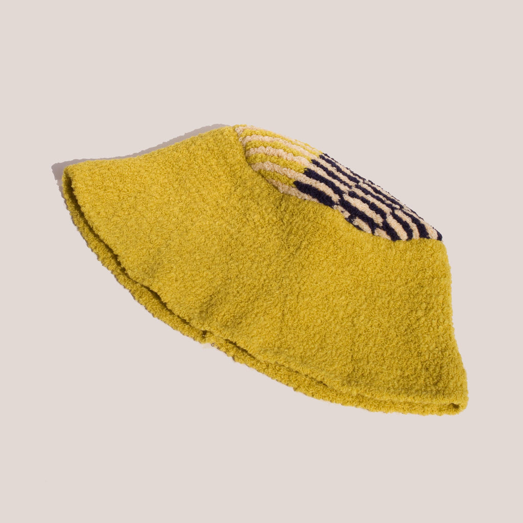 Eckhaus Latta - Jerome Hat in Tuscan Sun, side view.