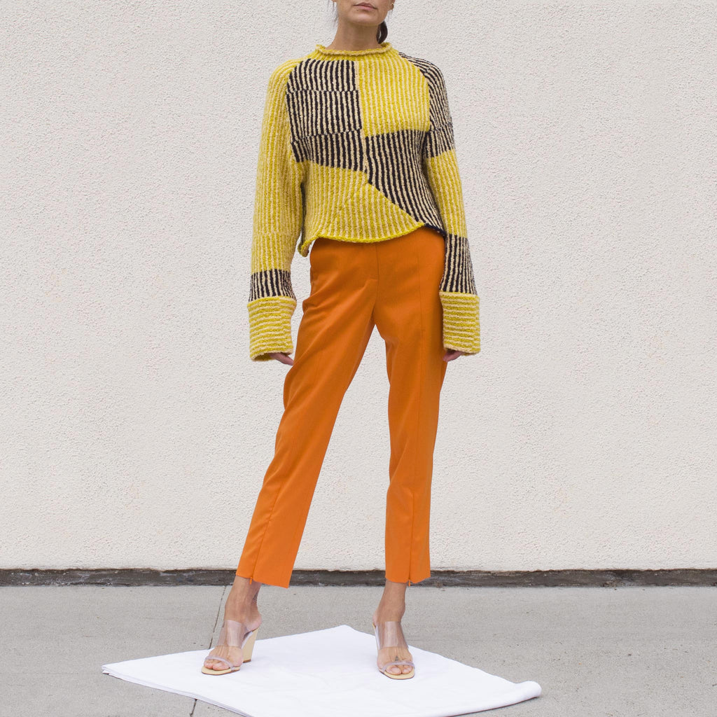 Eckhaus Latta - Jerome Dolman Sweater in Tuscan Sun, front view.