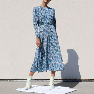 Rotate by Birger Christensen - Jersey Midi Dress, front view, available at LCD.