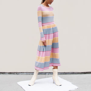 Stine Goya - Joel Dress - Stripe, angled view, available at LCD.