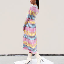 Load image into Gallery viewer, Stine Goya - Joel Dress - Stripe, side view, available at LCD.
