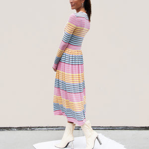 Stine Goya - Joel Dress - Stripe, side view, available at LCD.