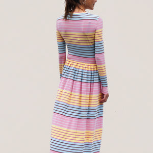 Stine Goya - Joel Dress - Stripe, back view, available at LCD.